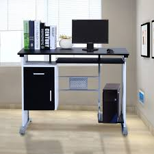 Computer Desk Tray Homcom Computer Desk Table Home Office Furniture With Keyboard