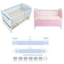 Solid Pink Crib Bedding Breathable Mesh Bumper Crib Liner Baby Bedding Washable Solid Pink