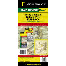 National Parks In Colorado Map by Rocky Mountain National Park Trail Maps Map Pack Bundle