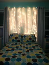 Lighting Curtains 15 Diy Curtain Headboard With Christmas Lights Home Design And