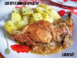lapin doré et pommes de terre au four toute la cuisine que j aime