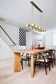 Oak Dining Table Uk Oak Dining Table U0026 Brass Pendant Lights Kitchen Design Ideas