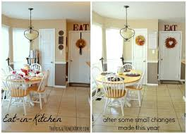 eat in kitchen decorating ideas some new kitchen a bit of fall decorating