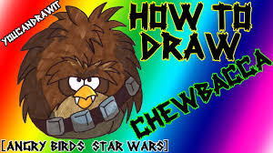how to draw chewbacca terence bird from angry birds star wars