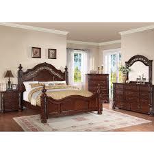 Mirrored Furniture Bedroom Sets Charleston Bedroom Bed Dresser U0026 Mirror King 55865