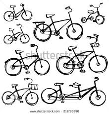 vector outline drawing bicycle free vector download 90 904 free