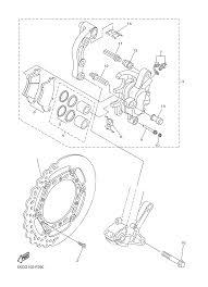 2013 yamaha yz125 yz125d2 front brake caliper parts best oem