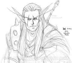 blood elf warrior sketch 01 by vladsnake on deviantart