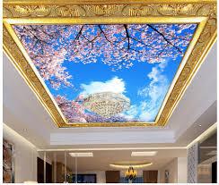 3d customized wallpaper floral sky zenith design 3d ceiling murals