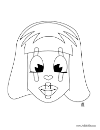 mask head coloring pages hellokids com