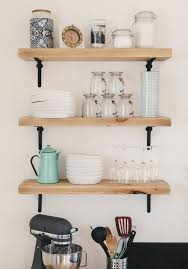 Wood Shelf Making by Best 25 Open Kitchen Shelving Ideas On Pinterest Kitchen