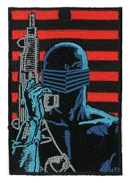 snake eyes iron on velcro patch gi joe movie ninja tactical