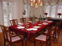 formal dining room sets dark brown varnish long wooden dining