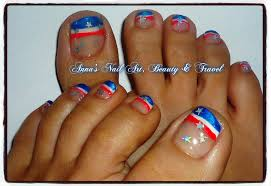 red white u0026 blue toe nail design youtube