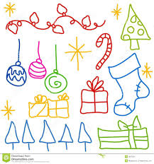 childlike christmas doodle drawings stock images image 3667504