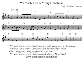 we wish you a merry staff notation ed recorder