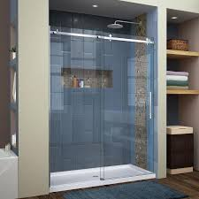 shop dreamline enigma air 56 in to 60 in w frameless brushed