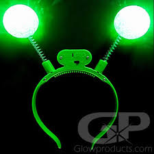 green led headbands glowing boppers