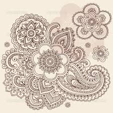 paisley tattoo designs paisley floral tattoo doodle vector