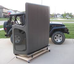 how to store jeep wrangler top tj lj yj hardtop storage cart