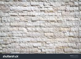 Stone Brick by Pattern White Modern Stone Brick Wall Stock Photo 125402957