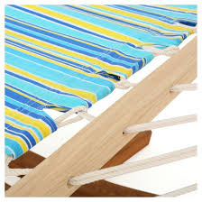 richardson stripe outdoor hammock with base blue yellow