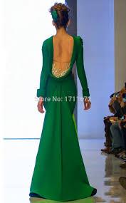 aliexpress com buy emerald green dresses elegant backless