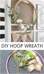 Diy Spring Home Decor Diy Hoop Wreath