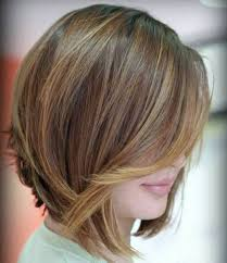 curly layered bob double chin angled layered bob with caramel highlights awesome hairstyles