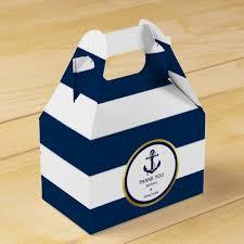 favor favor personalized navy blue nautical wedding favor favor box zazzle