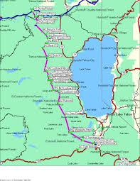 Rubicon Trail Map Tahoe Ski Traverse