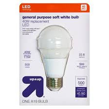 light bulb led general purpose soft white 40 watt up u0026 up target