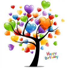 colored tree happy birthday card vector free vectors ui
