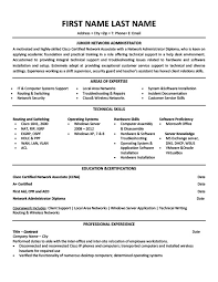 sample resume for network administrator linux administration