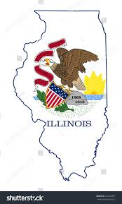 State Map Of Illinois by State Illinois Flag Map Isolated On Stock Illustration 169229837