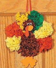 tissue paper turkey kid s craft tissue paper and craft