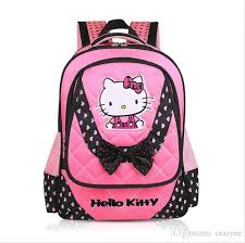 girls book bag kitty bags 2016 quality