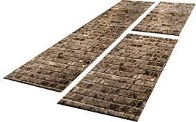 läufer für küche bettumrandung 3 tlg designer teppich läufer steinwand optik in