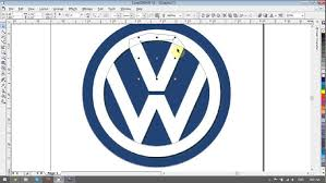 tutorial design logo corel draw x5 volkswagen logo design tutorials in corel draw youtube