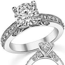 moissanite vintage engagement rings forever one moissanite antique style engagement ring
