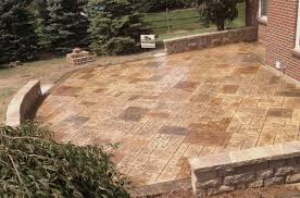 Cement Patio Cost Per Square Foot by Stone Texture Stamped Concrete Patio Concrete Stamped Patio