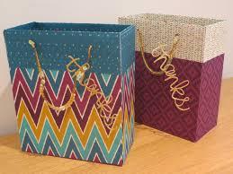 craftycarolinecreates large gift bag tutorial with bohemian dsp