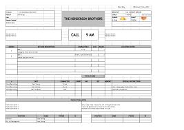 Call Sheet Template Call Sheet Template Single Page Call Sheet