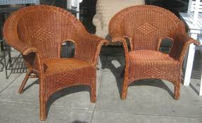 wicker dining chairs furniture