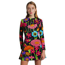 flower dress black hippie flower dress mariaescote