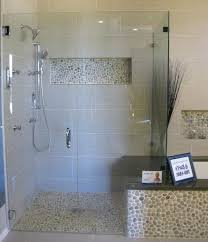 bathroom shower floor ideas pebble floor shower socielle co