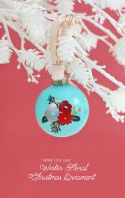 diy winter floral ornament with vinyl lou