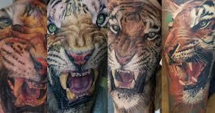 stunning tiger tattoos by artist dmitriy samohin