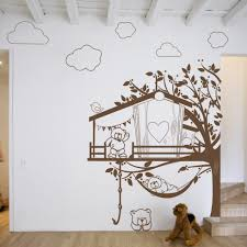 stickers nounours chambre bébé stickers chambre bebe ourson wall decals tree with flowers