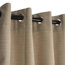 dupione sand grommeted sunbrella outdoor curtains